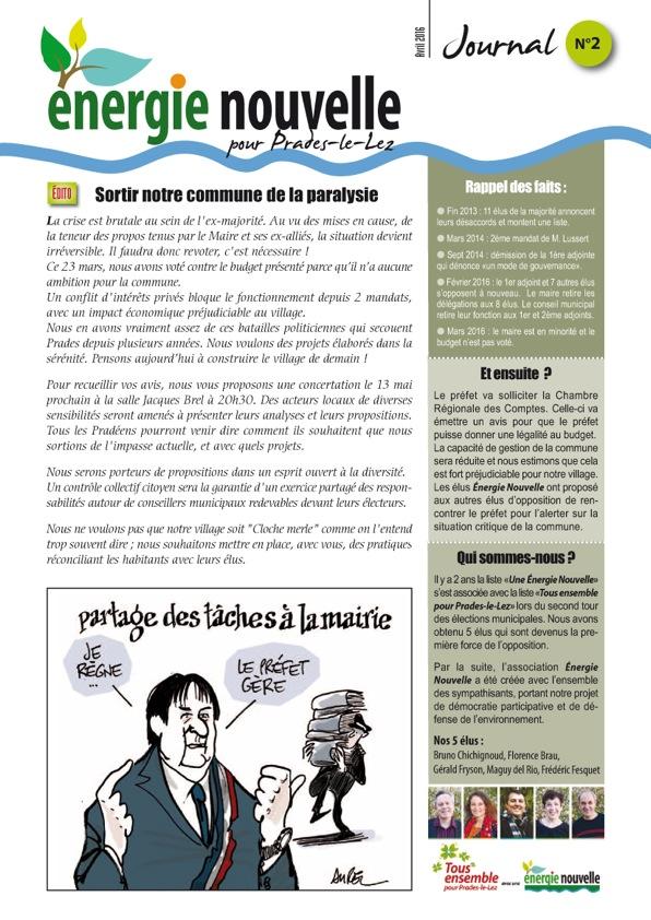 Journal N°2 Recto