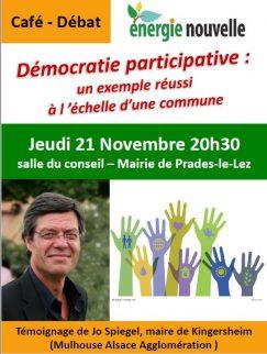 Café-Débat sur la démocratie participative: venue de Jo Spiegel, 21 Novembre 2019