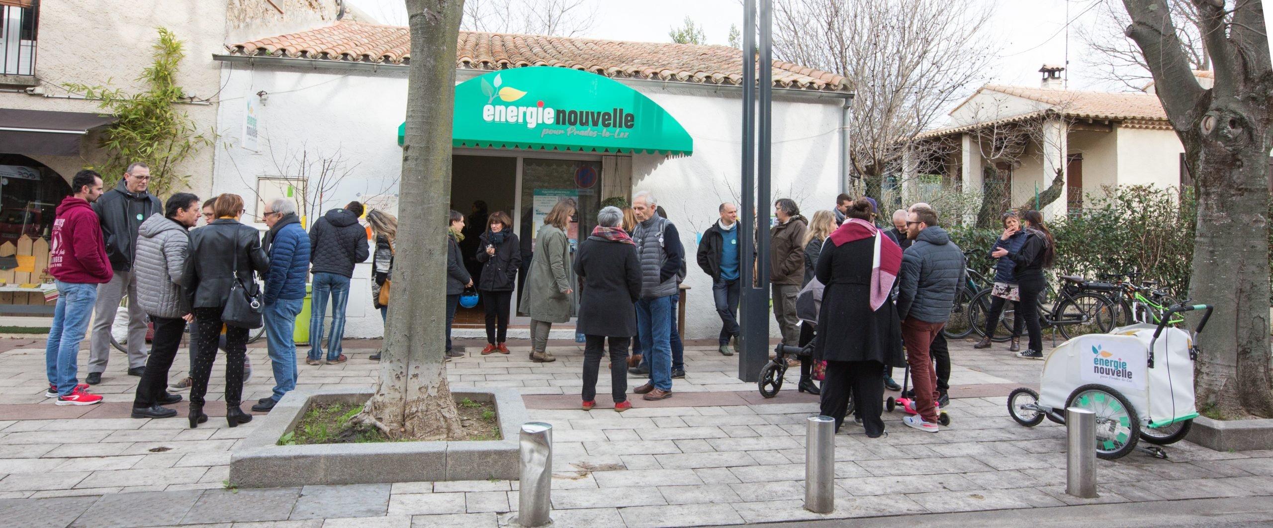 Inauguration local de campagne Energie nouvelle